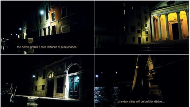 Imágenes del vídeo «Dérive Veneziane», de Muntadas