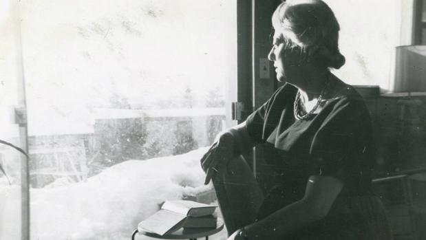 Anna Murià en sus años de vejez