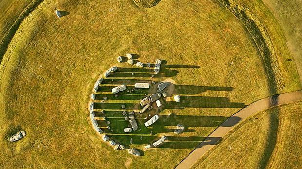 Vista aérea de Stonehenge