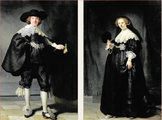 Marten Soolmans y Oopjen Coppit retratados por Rembrandt