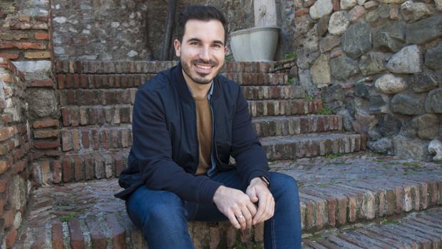 Javier Castillo, fotografiado en Málaga, la ciudad donde se crió