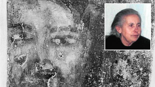 Una de las caras aparecidas en la casa de María Gómez Cámara, fallecida en 2004