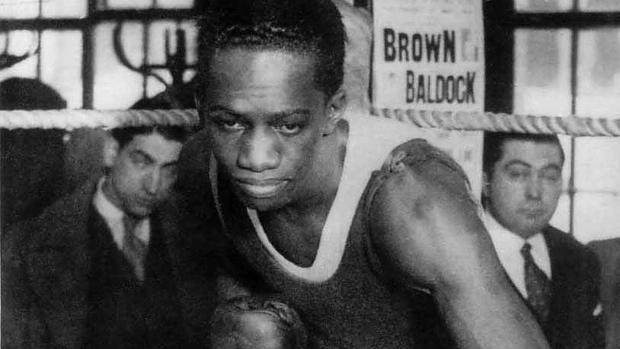 El boxeador panameño Alfonso Teófilo Brown
