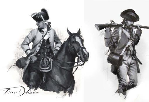 Boceto del cuadro «La marcha de Gálvez»