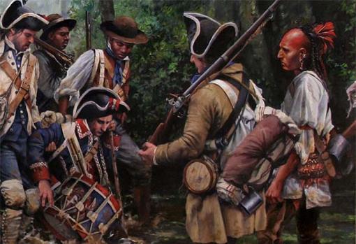 Detalle del cuadro «La marcha de Gálvez»