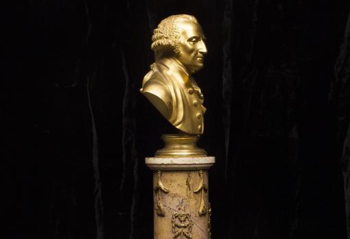 Pieza de la exposición (busto de Washington)