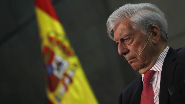 Mario Vargas Llosa, durante la presentación de su último libro en Madrid