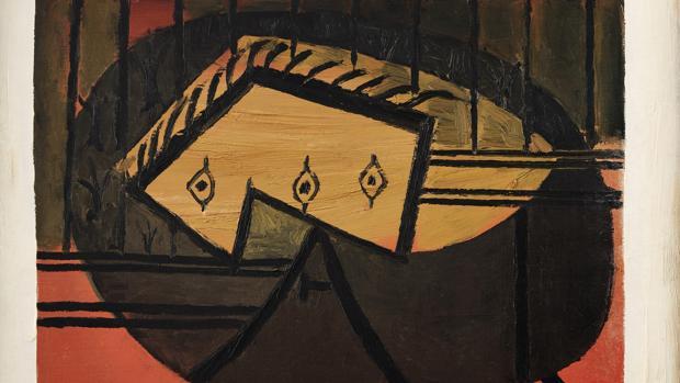 «Tête (Nature norte à la guitare)», Picasso) (1927-28)