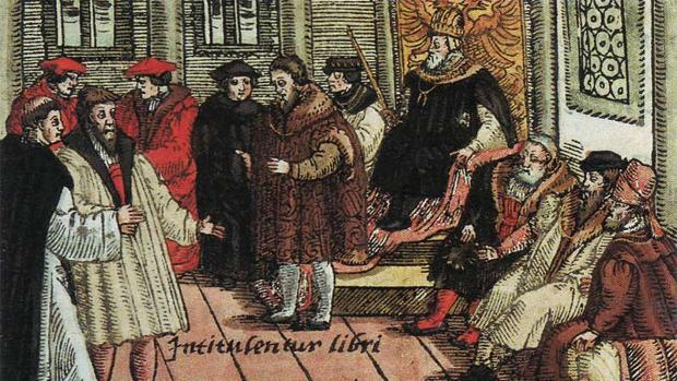 Lutero en la Dieta de Worms.
