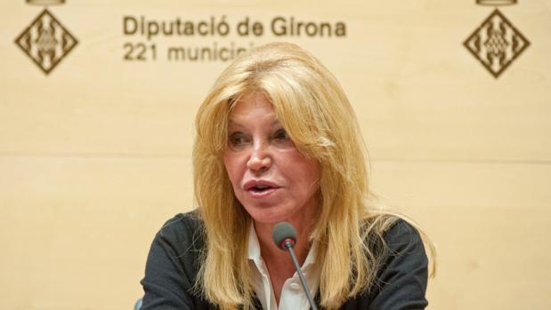 Carmen Thyssen, durante su comparecencia en Girona este miércoles