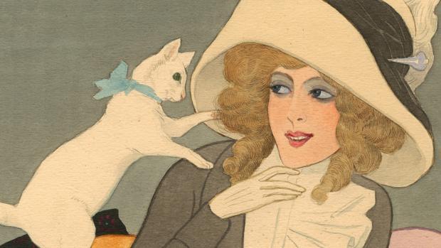 «Quitando moños», una ilustración de Xaudaró de 1912