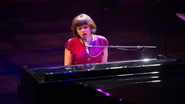 Norah Jones, durante su actuación en el Liceu de Barcelona