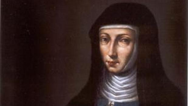 Retrato de sor María Jesús de Ágreda del siglo XVII