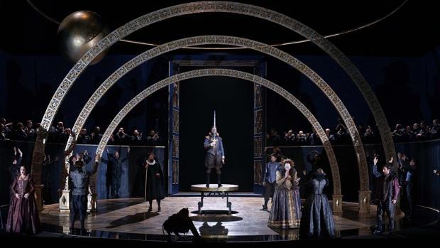 Una imagen de uno de los ensayos de «Gloriana»