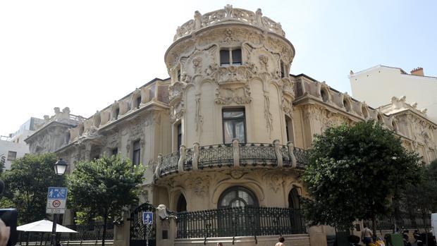 Fachada de la Sociedad General de Autores Españoles (SGAE) en Madrid