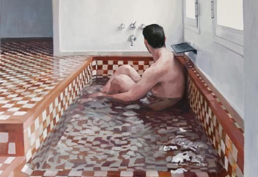 Detalle de «Hombre en la bañera 5»