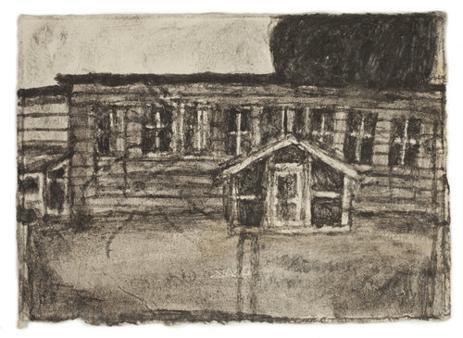 Dibujo del artista de su residencia