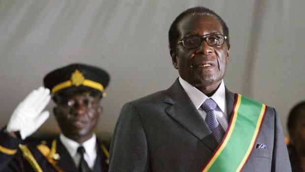 Robert Mugabe, expresidente de Zimbabue, en 2008