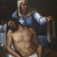 «Piedad», de Sebastiano del Piombo. Óleo sobre pizarra, 1533-39