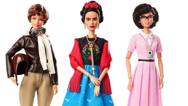 Algunas de las muñecas de la nueva línea de muñecas Inspiring Women