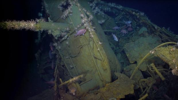 Restos del submarino hundido