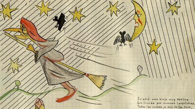Una de las ilustraciones del cuento inédito del autor vallisoletano