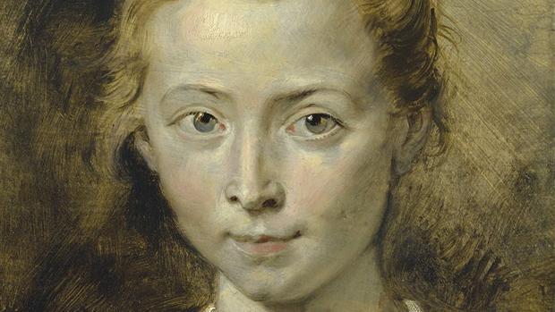 Detalle del retrato que Rubens hizo de su hija Clara Serena poco antes de su muerte