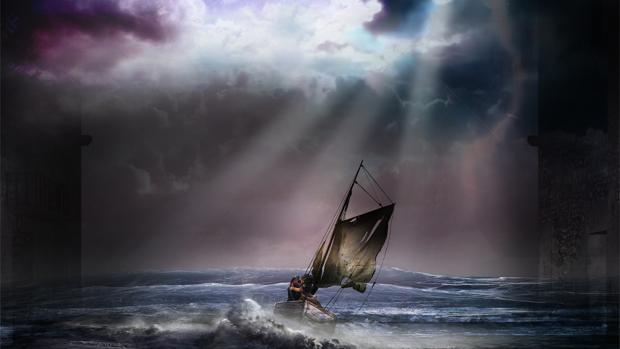 Una escena de «La tabernera del puerto»