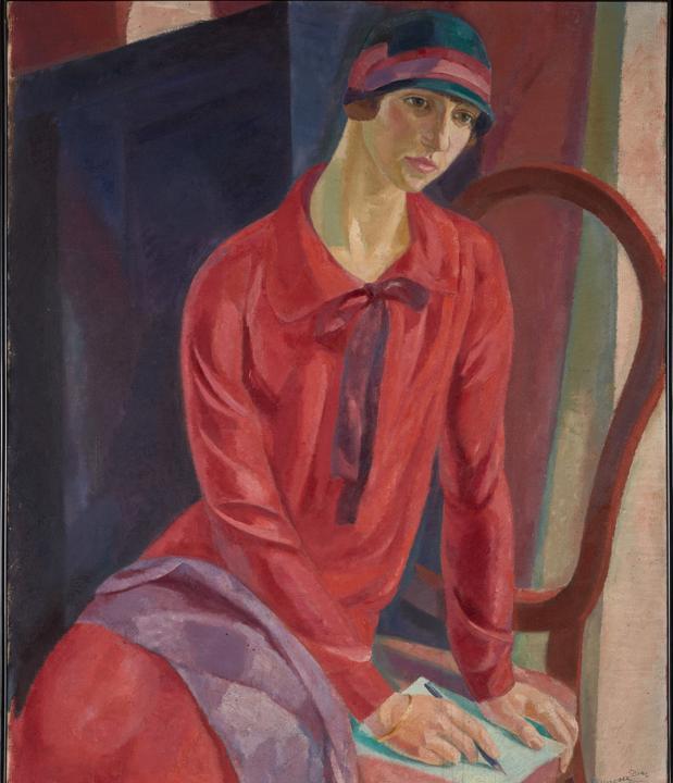 «Mujer de rojo» (1931) de Daniel Vázquez Díaz, una de las obras cedidas a la Fundación Botín