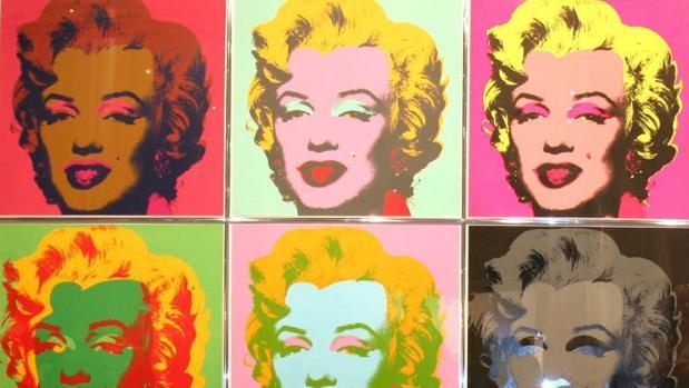 Algunos de los retratos de la actriz Marilyn Monroe facturados por Andy Warhol
