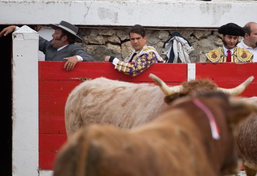 La mirada de Morante y Manzanares ante la insólita escena