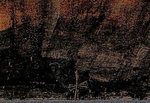 Cruz dorada que permitió el descubrimiento