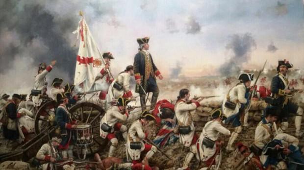 La batalla de Pensacola, por Augusto Ferrer-Dalmau