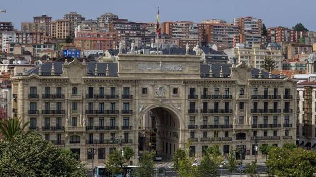 La sede social del Banco Santander en el Paseo Pereda