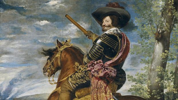 Detalle de «Gaspar de Guzmán, conde-duque de Olivares, a caballo», de Velázquez