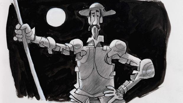 Ilustración de Don Quijote, por A. Mingote