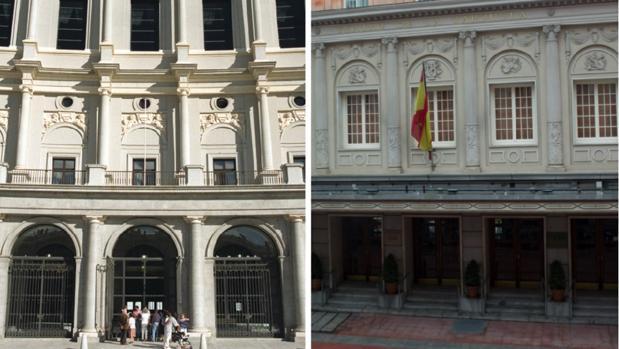 Fachadas del Teatro Real y del Teatro de la Zarzuela