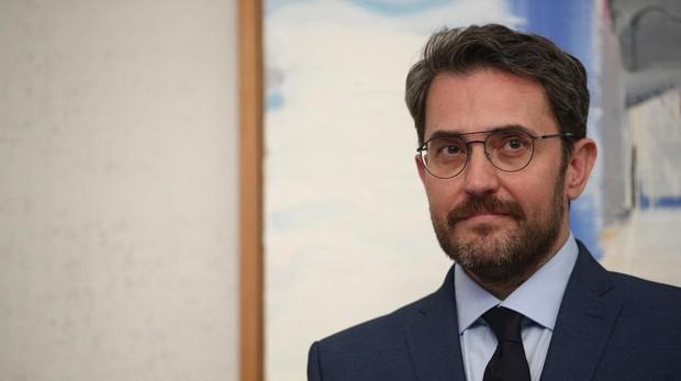 Màxim Huerta, en su toma de posesión como ministro de Cultura