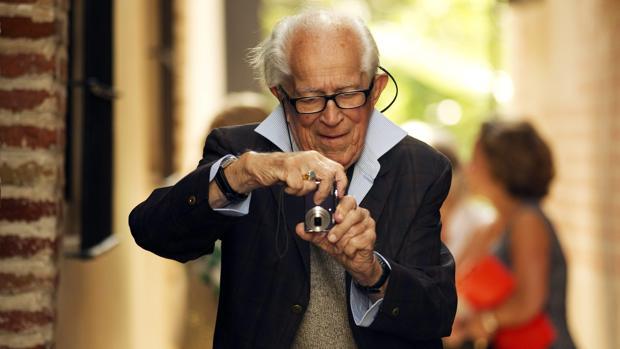 David Douglas Duncan, en una visita al Museo Picasso de Málaga