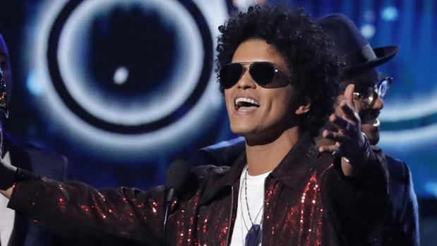 El cantante estadounidense Bruno Mars