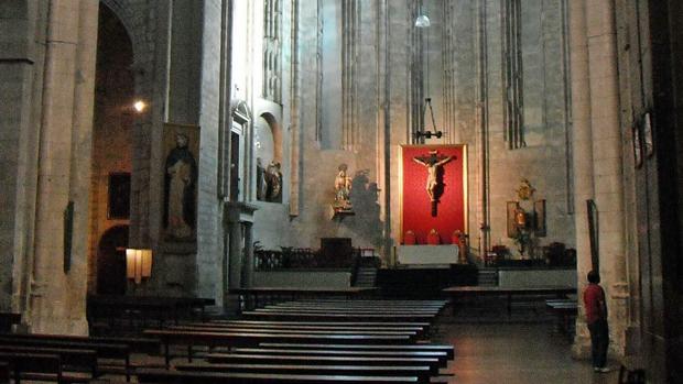 Interior de la iglesia conventual de San Pablo en Valladolid