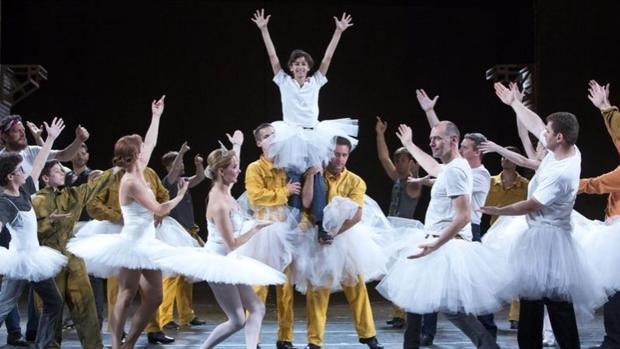 Una escena del musical «Billy Elliot»