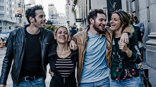 Juan Blanco, Violeta Pérez, David Mora y Bea de la Cruz
