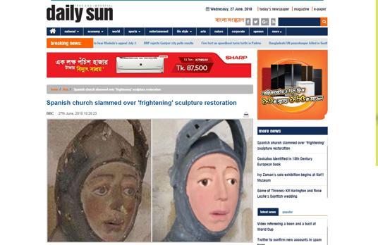 En el «Daily Sun» de Bangladesh