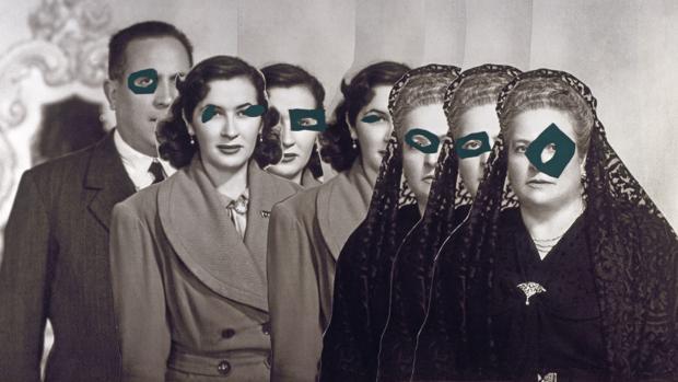Una de las imágenes intervenidas de Carmen Calvo en el Museo Cerralbo