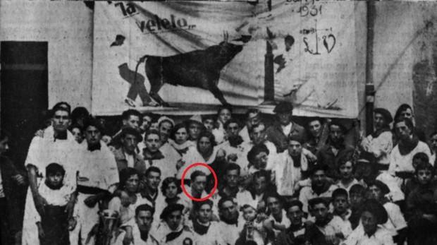 Juan Marquina es el joven rubio que mira a su derecha en la segunda fila inferior