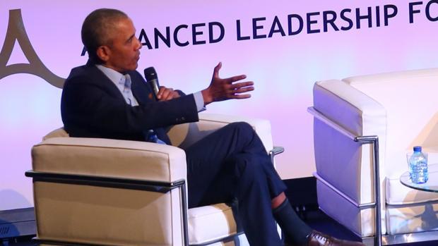 Barack Obama, durante su intervención en la Cumbre de Innovación Tecnológica y Economía Circular