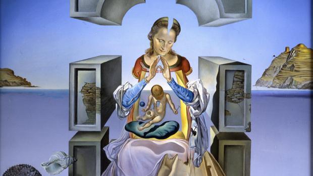 Detalle de «La Madonna de Portlligat» (1949), uno de los lienzos con los que se abre la exposición