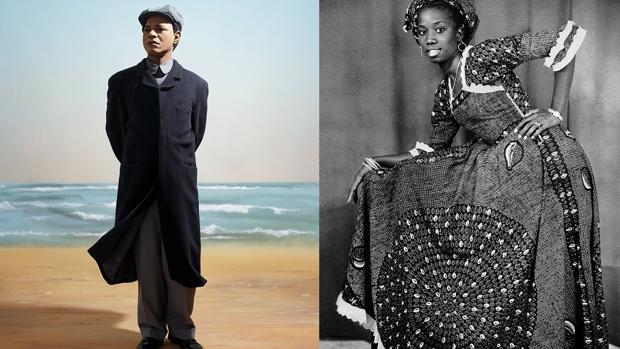 «Emperador de África», de S. Fosso, y foto de «Studio African Photo», de Mama Casset
