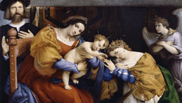 «Matrimonio místico de Santa Catalina y el donante Nicolò Bonghi» (1523)